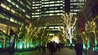 東京ミッドタウンのイルミ