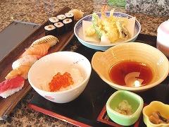 寿司付き定食